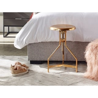 Aurelle Home Copper Adjustable Accent Stool