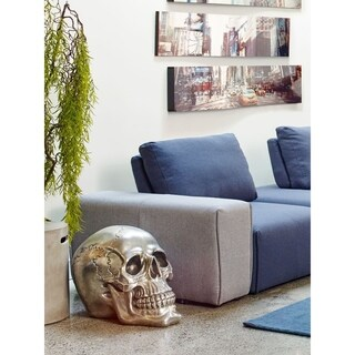 Aurelle Home Large Silver Skull Metal Sculpture