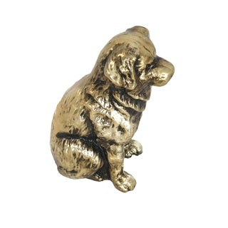 Aurelle Home Dog Gold Metal Sculpture