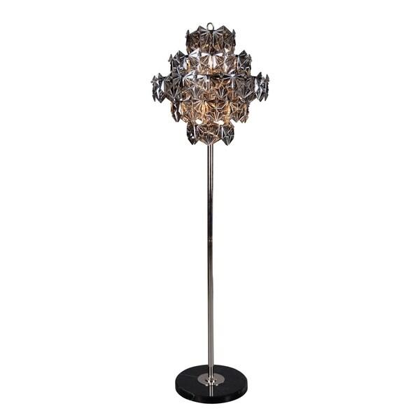 Aurelle Home Swan Dark Grey Iron 6-light Tall Floor Lamp