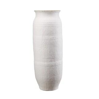 Aurelle Home Tall White Terracotta Vase