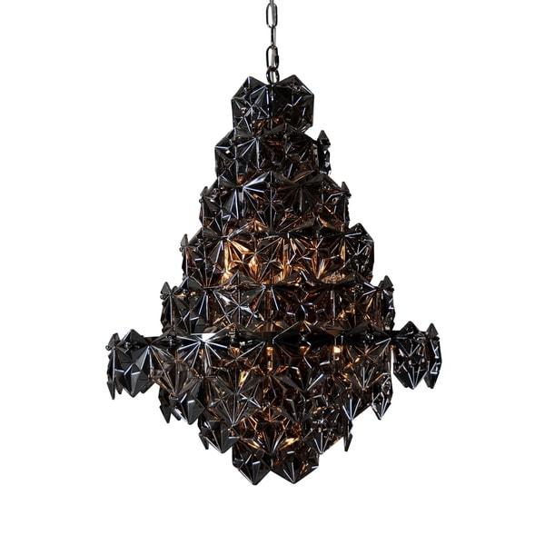 Aurelle Home Dark Grey Gothic Iron 9-light Pendant