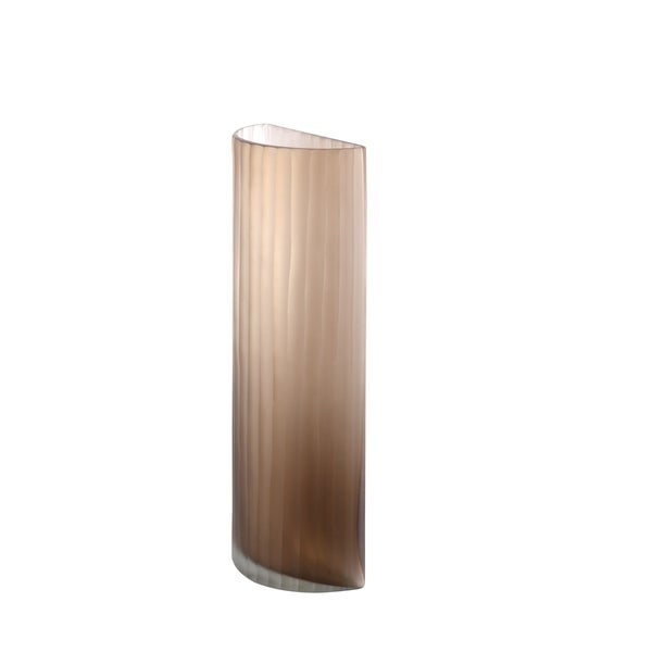 Shop Aurelle Home Handcrafted Terra Tall Glass Vase On Sale Free