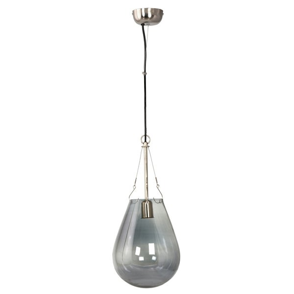 Aurelle Home Blue Small Iron 1-light Pendant