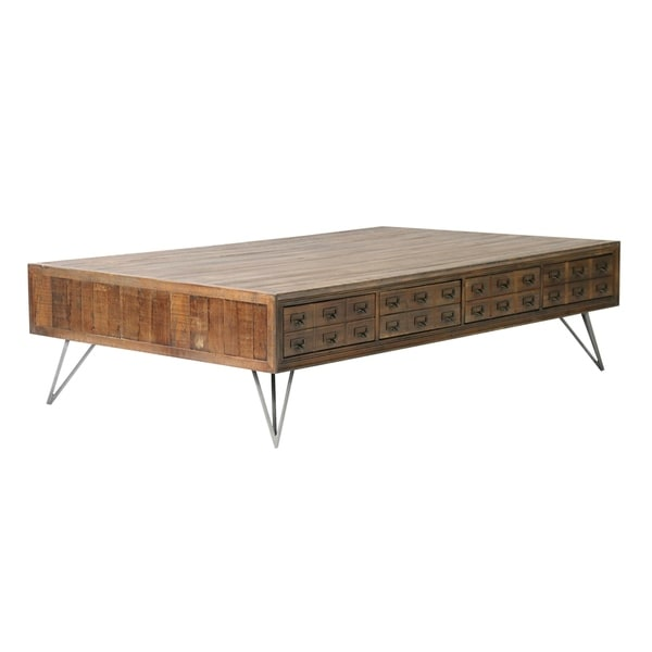 Javadi Dark Brown Wood Coffee Table