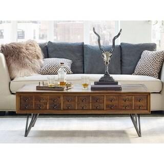Aurelle Home Javadi Dark Brown Wood Coffee Table