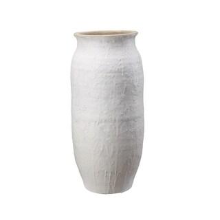 Aurelle Home Leeds White Terracotta Vase