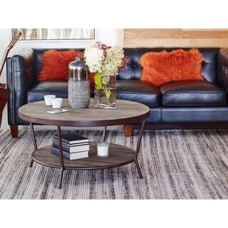 Aurelle Home Brin Brown Wood Coffee Table