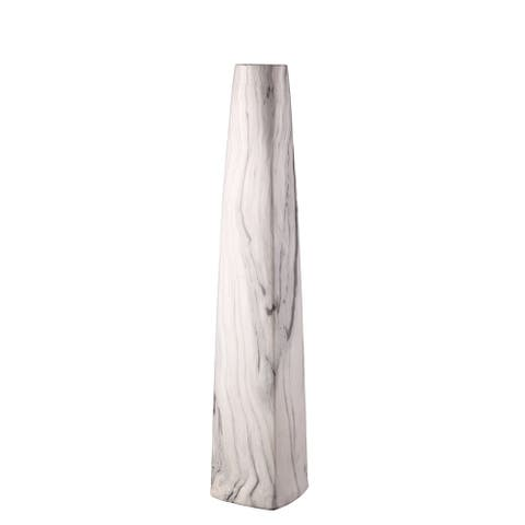 Aurelle Home Grey Clay Short Vase