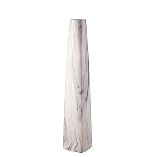 Aurelle Home Carrara Grey Clay Short Vase