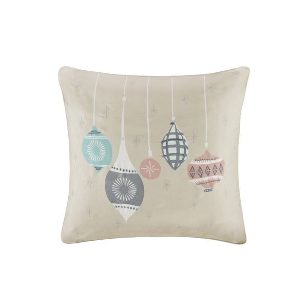 Shop Madison Park Ornament Treasures Ivory Printed Embroidered 40 Cool Madison Square Decorative Pillow