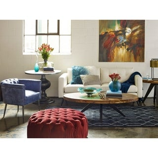 Aurelle Home Panko Oval Modern Coffee Table