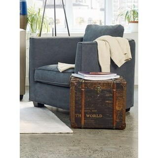 Aurelle Home Antique Wood Trunk End Table