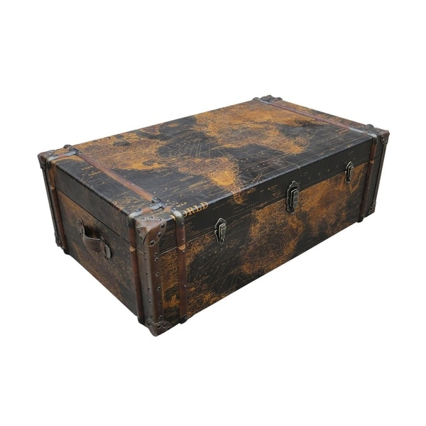 Enjoyable Aurelle Home Antique Wood Trunk Coffee Table Pdpeps Interior Chair Design Pdpepsorg