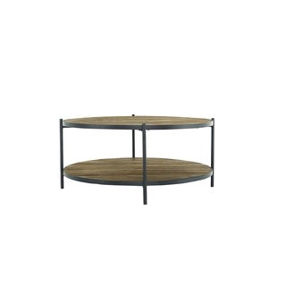 Aurelle Home Brown Reclaimed Wood Contemporary Coffee Table