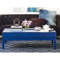 Aurelle Home Blue Wood Coffee Table
