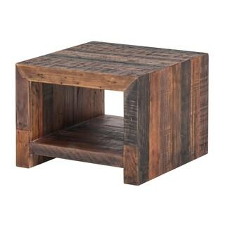 Aurelle Home Vintage Antique Bright Wood End Table
