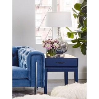 Aurelle Home Blue Wood Side Table