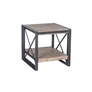 Aurelle Home Industrial Farmhouse Wood Side Table
