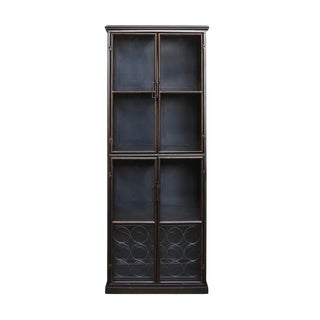 Lazarus Gunmetal Iron Display Cabinet