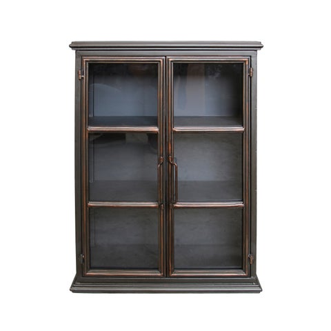 Aurelle Home Gunmetal Iron Wall Cabinet