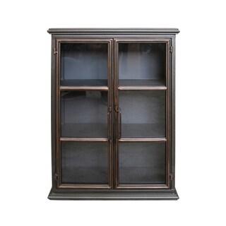 Lazarus Gunmetal Iron Wall Cabinet