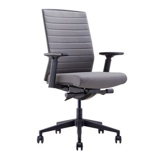 Aurelle Home Dwight Modern Sleek Grey Ergonomic Office Chair