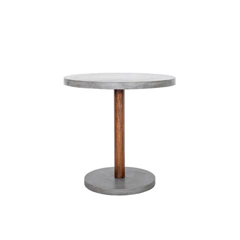 Aurelle Home Dark Grey Stone Outdoor Counter Table