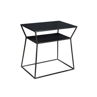 Aurelle Home Osaka Black Iron Side Table