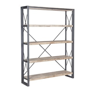 Aurelle Home Industrial Storage Bookcase