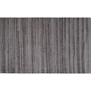 Aurelle Home Calypso Grey Wool/Cotton Woven Fabric Rug (5' x 8')