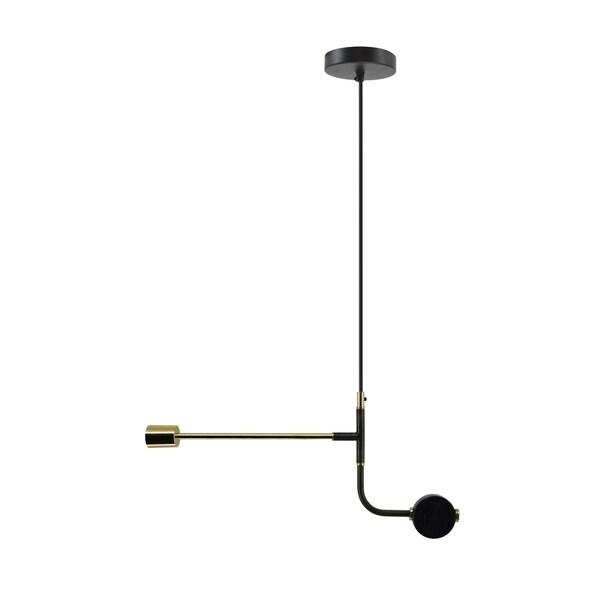 Aurelle Home Dark Grey Small Iron Industrial Modern 1-light Pendant