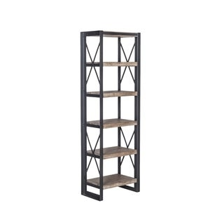 Aurelle Home Dutch Industrial 5 Tier Rustic Industrial Bookshelf