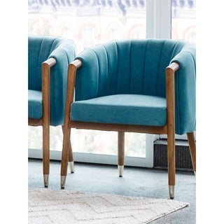 Aurelle Home Sky Blue Mid-Century Modern Contemporary Accent Chair