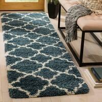Safavieh Hudson Shag Slate Blue/ Ivory Rug - 2' 3 x 6'