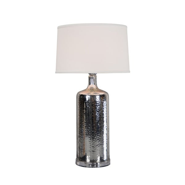 Aurelle Home Silver Iron 1-light Table Lamp