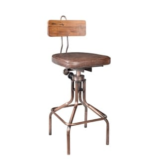 X Back Copper Bar Stool Free Shipping Today Overstock