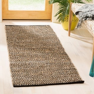 Safavieh Hand-Woven Vintage Leather Beige Leather Rug (2' 3 x 6')