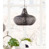 Aurelle Home Large Black Iron Pendant Contemporary Light