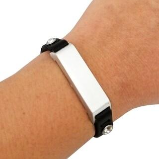 KATE Single-Strap Crystal Studded Black / Silver for Fitbit Flex 2