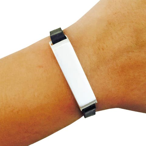 The KATE Single-Strap in Black and Silver for Fitbit Flex 2