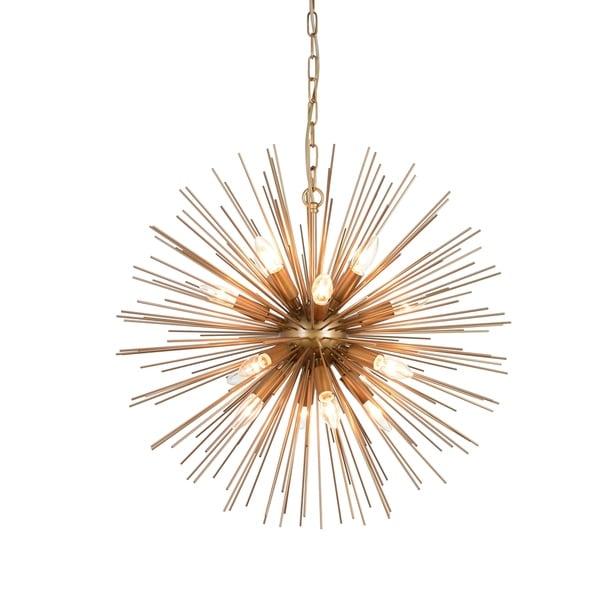 Aurelle Home Kepler Brass Iron 8-light Pendant