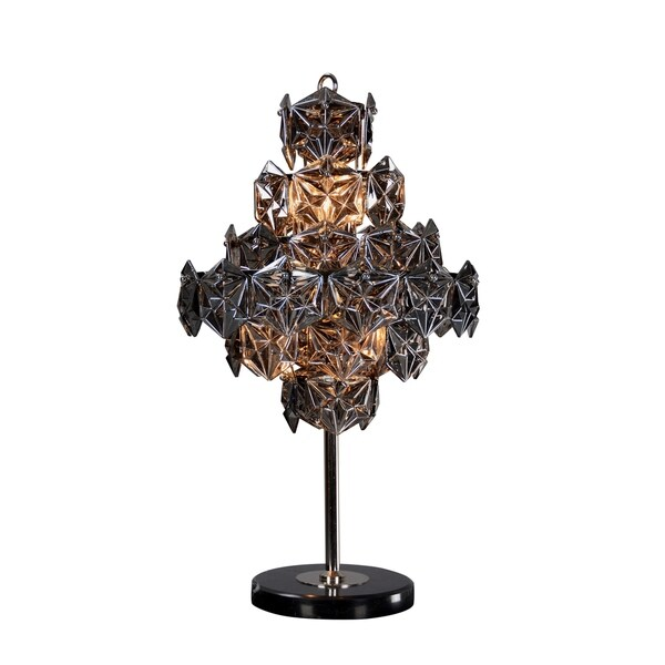 Aurelle Home Dark Grey Gothic Iron Table Lamp