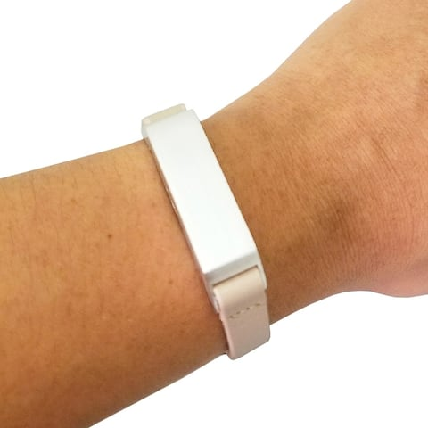 The KATE Single-Strap in Beige and Silver for Fitbit Flex 2