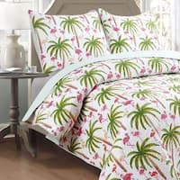 Panama Jack Flamingo Palm 3-piece Quilt Set
