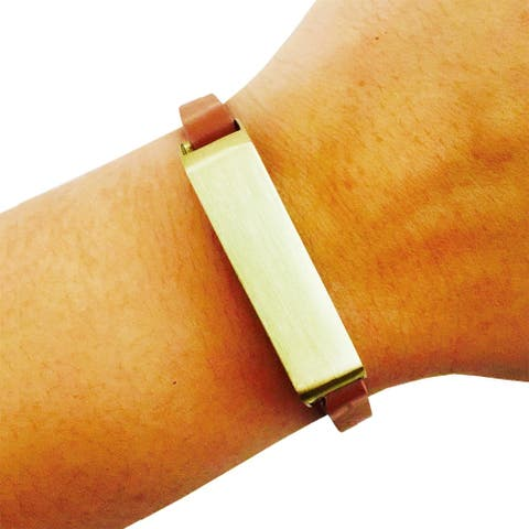 The KATE Single-Strap in Tan and Gold for Fitbit Flex 2