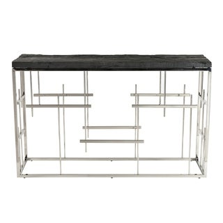 Morpheus Charcoal Steel Wood Console Table