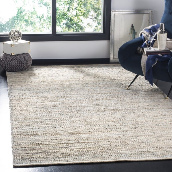 Safavieh Hand-Woven Vintage Leather Beige Leather Rug (2' 3 x 9')