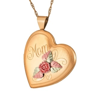 Black Hills gold MOM Locket Pendant