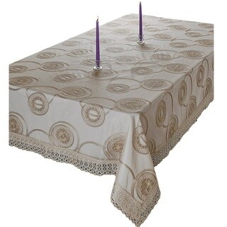 Violet Linen Marvelous Tablecloth